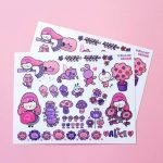 Stickers violets Alice et le jardin secret