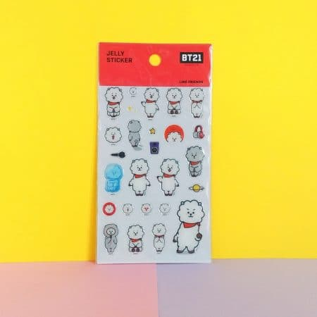 Stickers BT21 RJ gel - produit officiel BTS