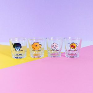 Verre à soju Kakao Friends coréen - lot de 4